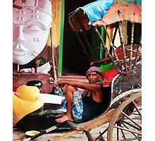 Rickshawer Photographic Print