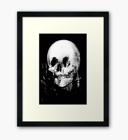 All Is Vanity: Halloween Life, Death, and Existence Framed Print