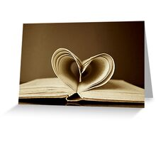 love heart book Greeting Card