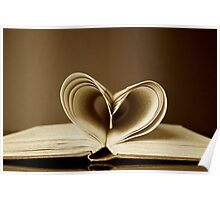love heart book Poster