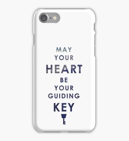 May your Heart be your guiding Key iPhone Case/Skin