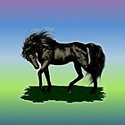 Ebony Stallion, tote, pillow, case by LoneAngel