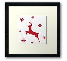 Christmas, Jumper, Reindeer Framed Print