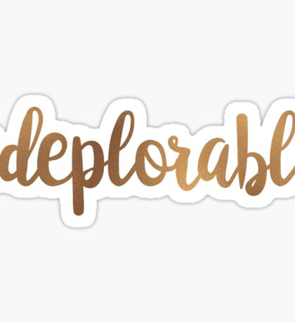 Hashtag Deplorable Sticker