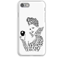 The Evil Queen - Calligram - color WHITE iPhone Case/Skin