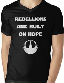 Star Wars Rogue One - Rebellions are built on hope Mens V-Neck T-Shirt
