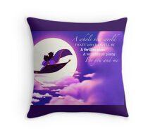 Aladdin and Jasmine Throw Pillow