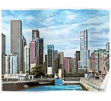Chicago IL - Chicago Harbor Lock Poster