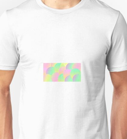 Colourful neon scale patteren Unisex T-Shirt