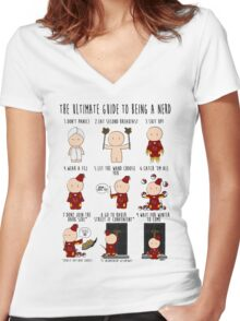 The Ultimate Guide To Being A Nerd Women's Fitted V-Neck T-Shirt