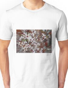 Red and White Flowers Unisex T-Shirt