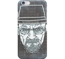 Walter White ( Heisenberg ) iPhone Case/Skin
