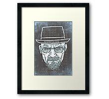 Walter White ( Heisenberg ) Framed Print