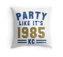 Party Like It's 1985 Kansas City T Shirt Throw Pillow