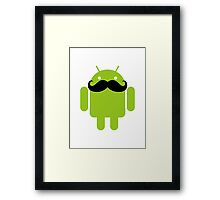 Mustache Android Robot Framed Print