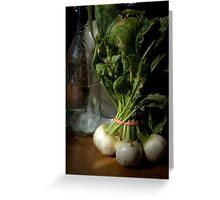 Still Life with Turnips Greeting Card