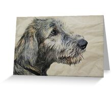 Irish Wolfhound Puppy Greeting Card