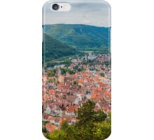 Bad Urach, view of the town centre from the Grafensteige hill iPhone Case/Skin