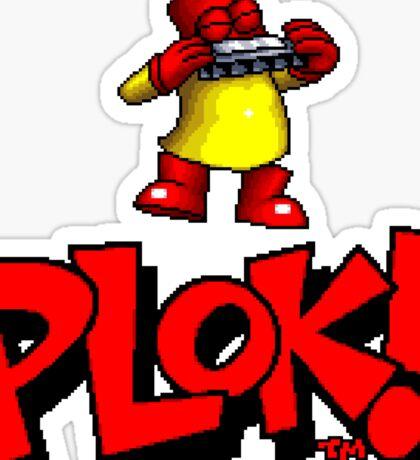 Plok - SNES Title Screen Sticker