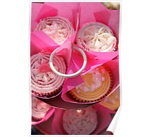 Pink cup cakes Poster