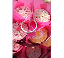 Pink cup cakes Photographic Print