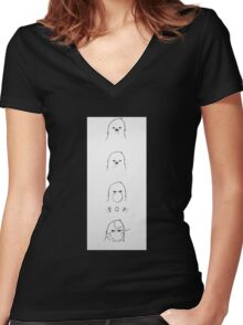 Chewing Gum Women's Fitted V-Neck T-Shirt