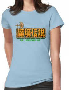 The Legendary Axe - Japanese Turbografx/PC-Engine Title Screen Womens Fitted T-Shirt