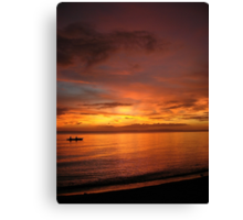 Philippine Sunset 2 Canvas Print
