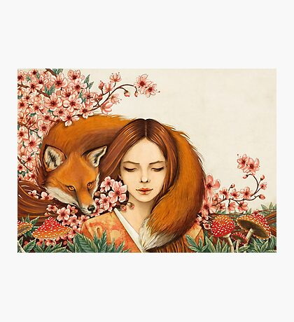 Red Fox Totem. Photographic Print