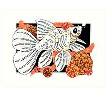 Dia de Muertos Bristol Goldfish  Art Print