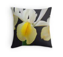 Low-key Iris Throw Pillow