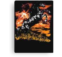 Charlie Always Sunny Horse T-shirt Canvas Print