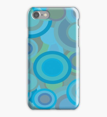 1970s Circles in Turquoise iPhone Case/Skin