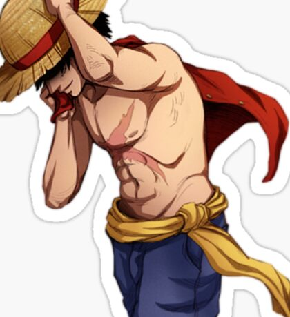 Money D. Luffy One Piece Sticker