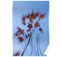 Abstract Impressions of Fall - the Song of the Wind  Poster