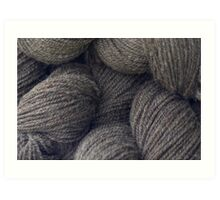 Natural Grey Handspun Yarn Art Print