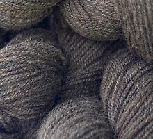 Natural Grey Handspun Yarn by AliCatFiberarts