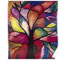 Stained Glass Tree Poster