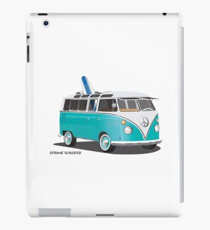 Hippie Split VW Bus Teal & Surfboard Peace iPad Case/Skin
