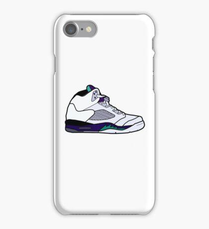 Jordan Retro 5 Grapes iPhone Case/Skin
