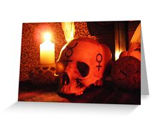 Samhain Candlelight at the Ancestral Shrine Greeting Card