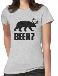 Beer, Bear? Womens Fitted T-Shirt