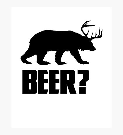 Beer, Bear? Photographic Print