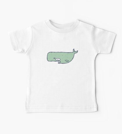 Cute sketchy cartoon blue whale Baby Tee