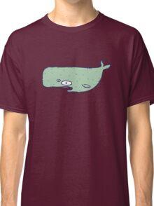 Cute sketchy cartoon blue whale Classic T-Shirt