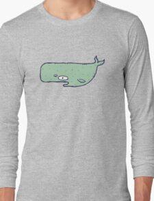 Cute sketchy cartoon blue whale T-Shirt