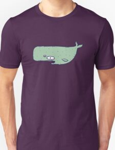 Cute sketchy cartoon blue whale Unisex T-Shirt