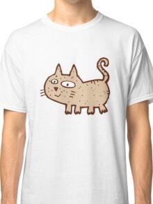Funny cute cartoon cat Classic T-Shirt