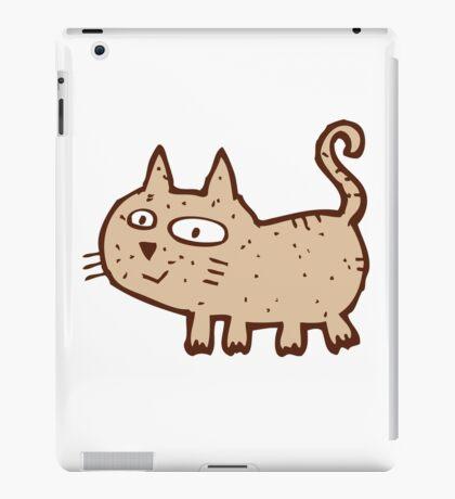 Funny cute cartoon cat iPad Case/Skin