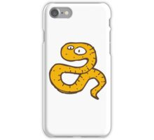 Funny sketchy cartoon snake iPhone Case/Skin